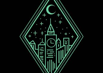 bright city tshirt design