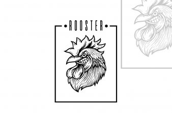 Rooster t-shirt design
