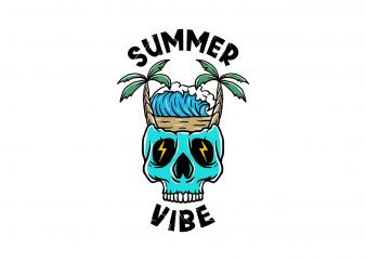 summer vibe 2 t-shirt design