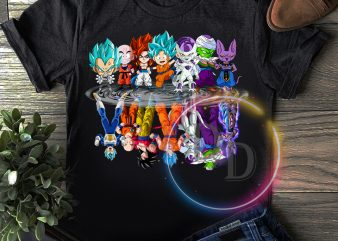 Dragon Ball Goku Chibi water mirror T shirt