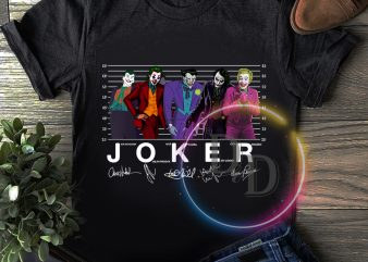 Joker Actors Tshirt design
