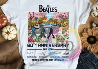The Beatles 50th Abbey Road Anniversary Thank you for the memories T shirt