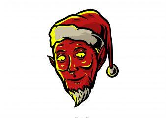 Evil Santa Claus vector clipart