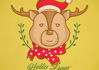 hello deer graphic t shirt