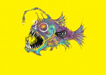 angry fish tshirt designs