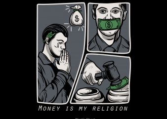 Money is my religion t shirt designs for sale
