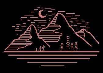 mountain landscape vector t-shirt design