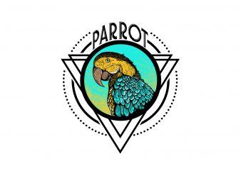 parrot t-shirt design