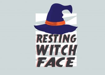 Resting Witch Face t shirt design online