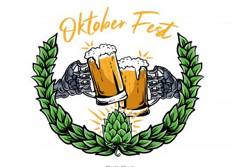 cheers for oktober fest t shirt vector file
