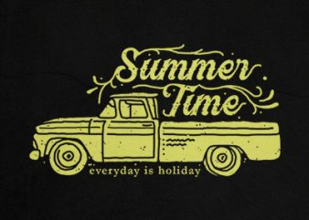 summer time t shirt template vector