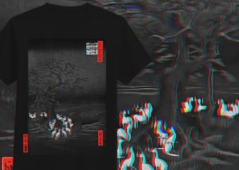 Japanese Streetwear T-Shirt Design