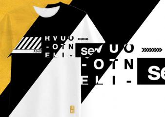 Minimalist All-Over Print T-shirt