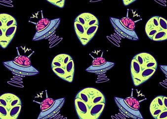 ALIEN full print vector t-shirt design , graphics design