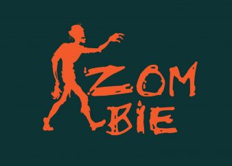 Zombie Hallowen t shirt graphic design