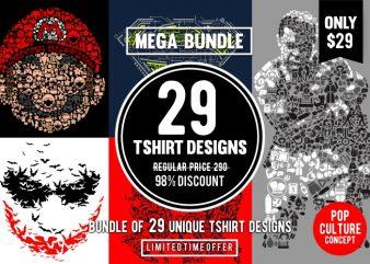 29 Tshirt Designs Bundle