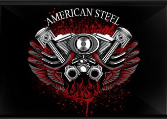 American Steel t shirt vector