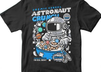 Astronaut Crunch t shirt vector
