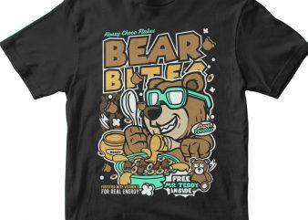 Bear Bites t shirt template