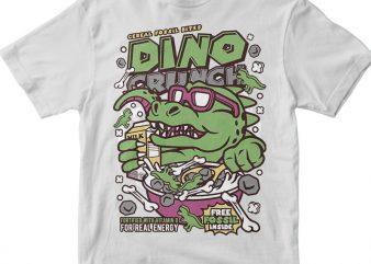 Dino Crunch t shirt vector illustration