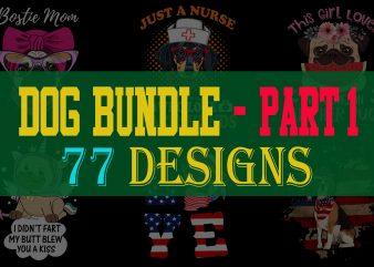 Dog Bundle Part 1 t shirt vector illustration