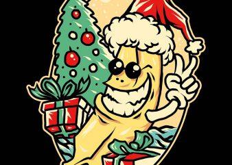 banana christmas tshirt design