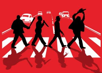 Abbey Road Killer t shirt vector
