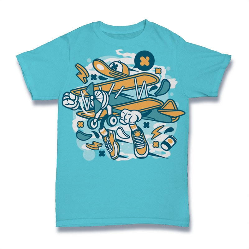 Aeroplane buy t shirt design