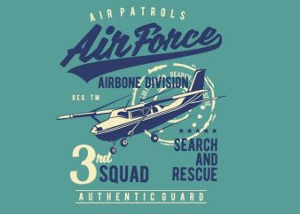 Air Force t shirt vector