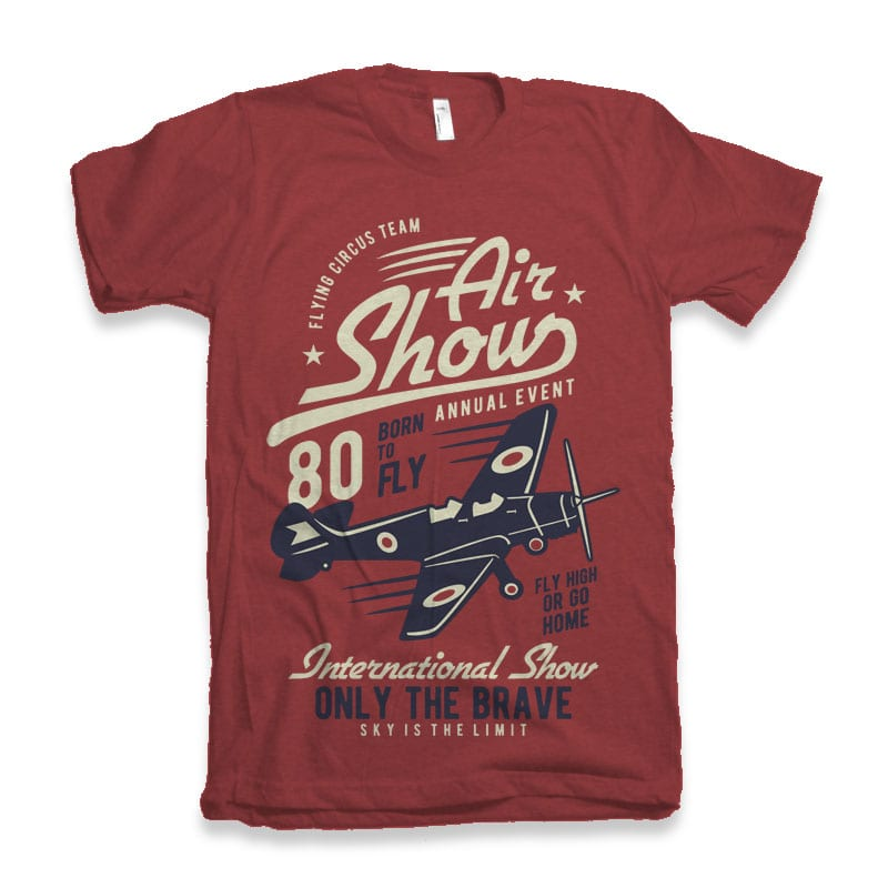 Air Show Airplane Tshirt screen printing vector designs - Air Show Airplane t shirt design buy t shirt design