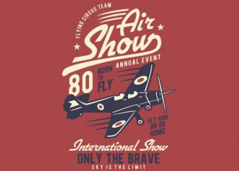 Air Show Airplane t shirt design
