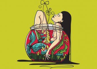 Aquarium t shirt vector