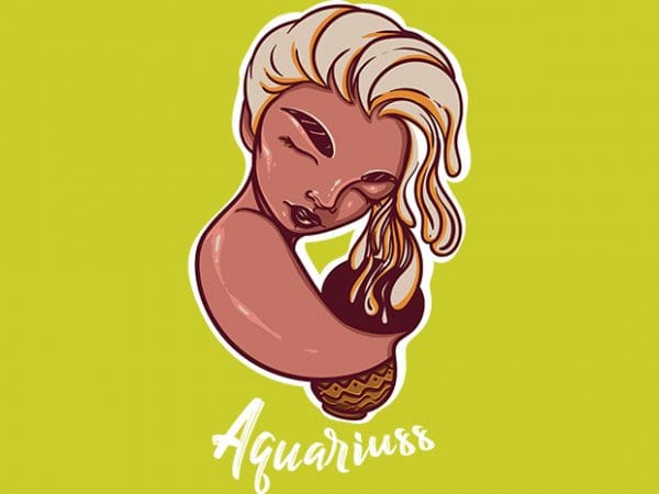 Aquariuss buy t shirt design