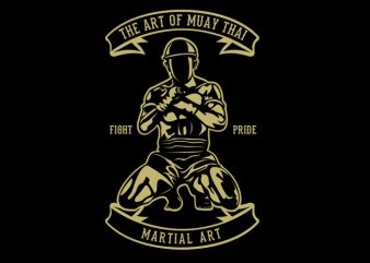 Art Of Muay Thai t shirt vector
