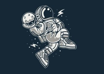 Astronaut Slamdunk buy t shirt design