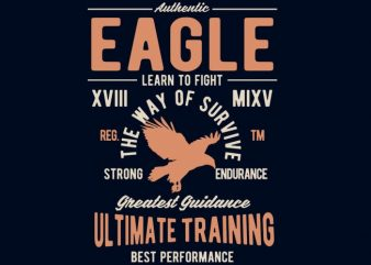 Authentic Eagle Tshirt design t shirt vector