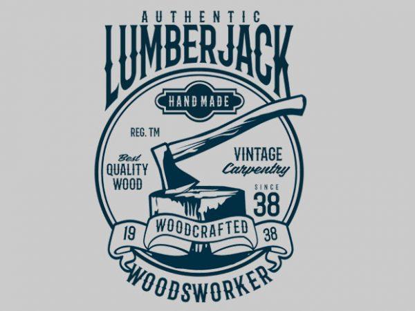 Authentic Lumberjack tshirt design buy t shirt design