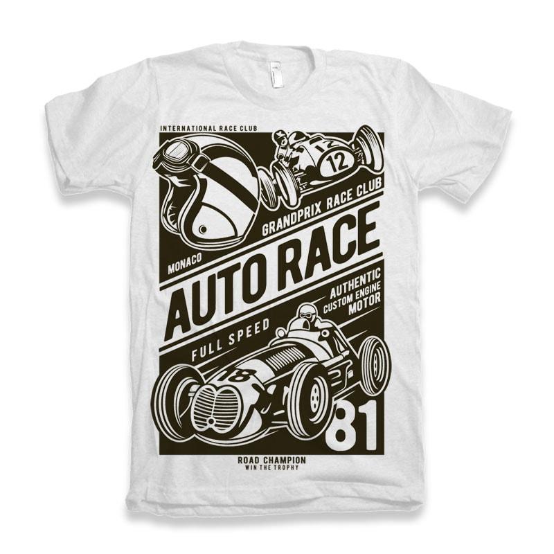 Auto Race buy t shirt design