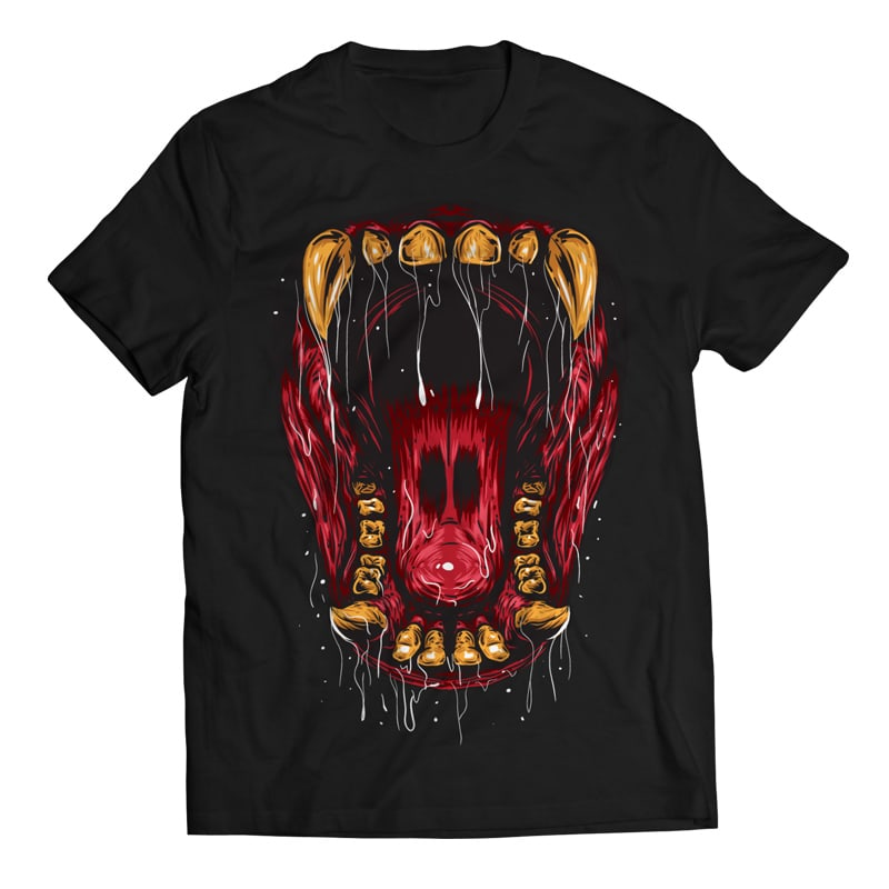 Beast Mouth - Gorilla buy t shirt design