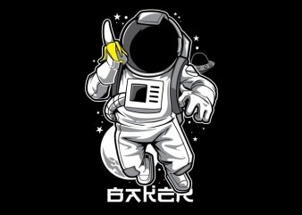Astronaut & Banana T-Shirt Design