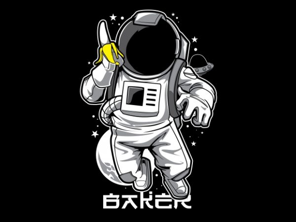 Astronaut & Banana T-Shirt Design