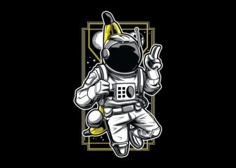 Bananaut – Astronaut & Banana T-Shirt Design