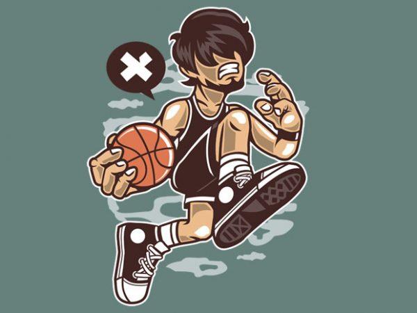 Basketball Player t shirt template