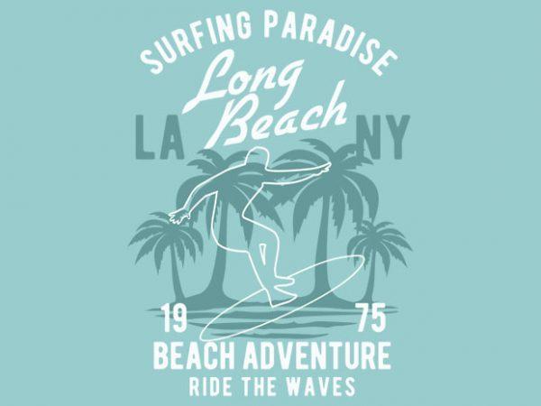 Beach Adventure t-shirt design