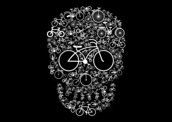 Bicycle Skull buy t shirt design