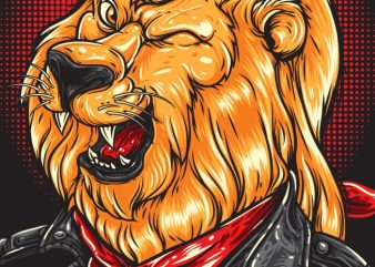 Cool Lion - Biker buy t shirt design