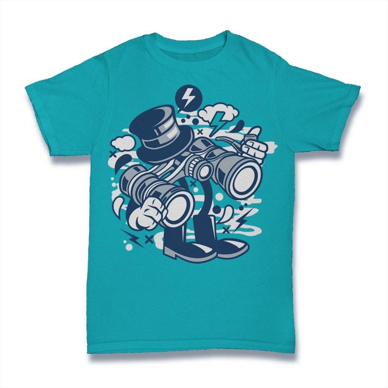Binocular buy t shirt design