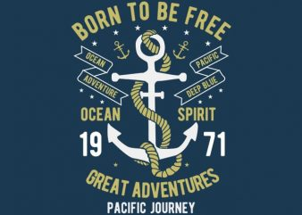 Born To Be Free tshirt design