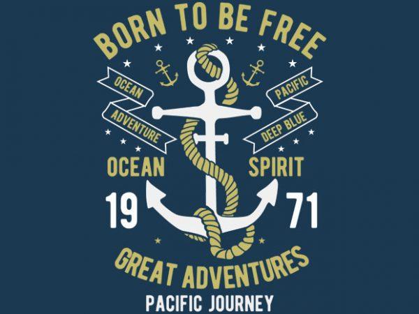 Born To Be Free tshirt design buy t shirt design