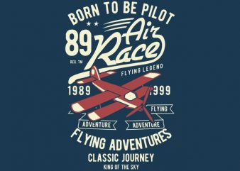 Born To Be Pilot t shirt design